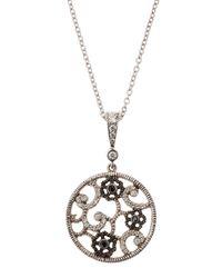 Penny Preville - Metallic Diamond Lace Pendant Necklace - Lyst
