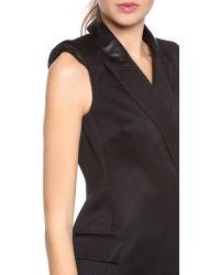 Rachel Zoe Black Cambridge Tux Dress with Leather