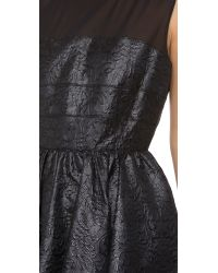 Rachel Zoe Black Mara Banded Sleeveless Dress