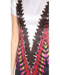 Rodarte Black Printed Tie Dye Tshirt Dress