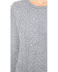 Rodebjer Gray Lizzie Embossed Knit Dress