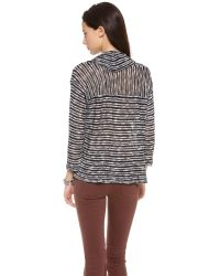 Splendid - Black Fireside Cowl Neck Sweater - Lyst
