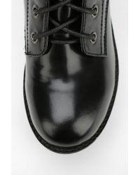 Urban Outfitters Black Shellys London Skardalo Laceup Platform Boot