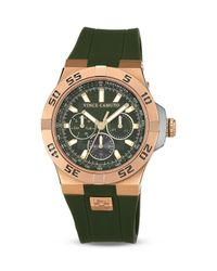 Vince Camuto Green The Master Silicone Strap Watch 43mm