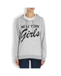 Zoe Karssen Gray New York Girls Printed Jersey Sweatshirt