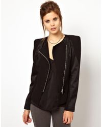 2nd Day | Black Sharp Shoulder Jacket with Contrast Panels | Lyst