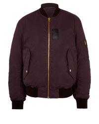 Acne Studios Red Burgundy Sid Cottonblend Bomber Jacket for men