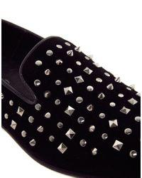 ALDO Black Coyan Studded Dress Slippers for men