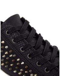 ALDO Black Shimsky Studded Sneakers for men