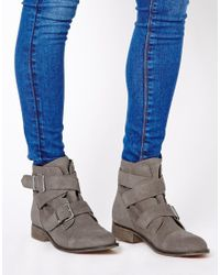 ALDO Gray Kadava Strap Ankle Boots