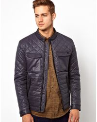PS by Paul Smith Gray Antony Morato Jacket with Quilted Sleeves for men