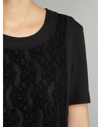 Armani Jeans Black Short Sleeve Lace Panel Dress