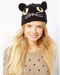 ASOS Black Cat Knit Beanie