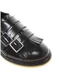 ASOS Black Asos Maya Leather Flat Shoes