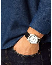 ASOS Black Watch with Working Day Of The Week Feature for men