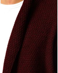 ASOS Cardigan in Textured Yarn for men