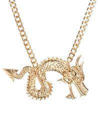 ASOS - Metallic Statement Dragon Necklace - Lyst