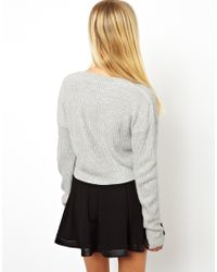 ASOS Gray Cropped Jumper