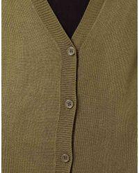 ASOS Green Long Cardigan In Fine Knit