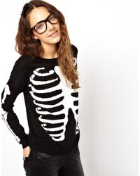ASOS Black Skeleton Sweater