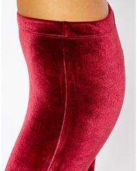 ASOS Purple Leggings in Velvet