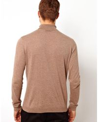 ASOS Brown Roll Neck Sweater for men