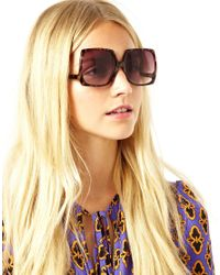 ASOS Brown Oversized 70s Square Sunglasses