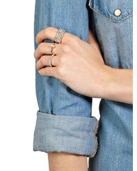 BaubleBar Metallic Crystal Eternity Ring