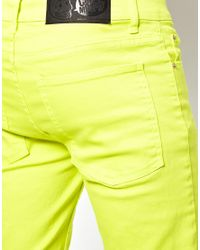 Cheap Monday Yellow Jeans Tight Skinny Fit for men