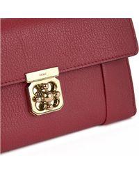 Chloé Red Elsie Leather Wallet
