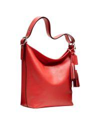 COACH Red Legacy Duffle Shoulder Bag