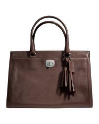 COACH Brown Legacy Chelsea Grab Bag