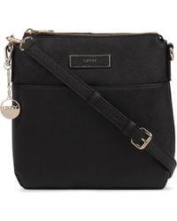 DKNY Black Saffiano Leather Crossbody Bag