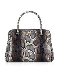 Dolce & Gabbana Black Miss Lily Python Degrade Tote