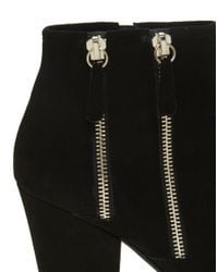 Dune Noras Black Double Zip Ankle Boots