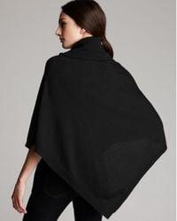 Eileen Fisher Black Turtleneck Wool Poncho