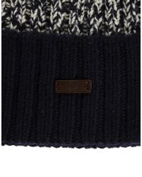 Fred Perry Blue Bobble Beanie Hat for men