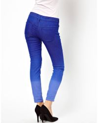Free People Blue Ombre Cropped Skinny Jean