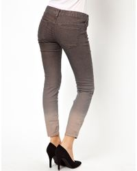 Free People Gray Ombre Cropped Skinny Jean