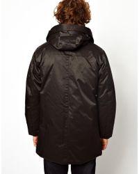 G-Star RAW Black Hooded Parka Coat Mountain Nylon for men