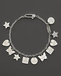 Gucci | Metallic Trademark Charm Bracelet 7 | Lyst