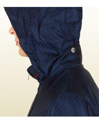 Gucci Sky Blue Mini Gg Jacquard Nylon Jacket for men