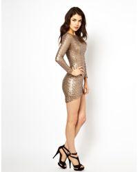 House of Dereon Metallic Sequin Dress