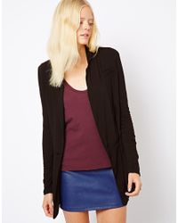 James Perse Black Notch Collar Soft Jacket