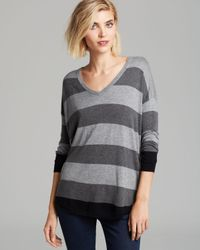 Joie Gray Sweater Chyanne B Bold Stripe