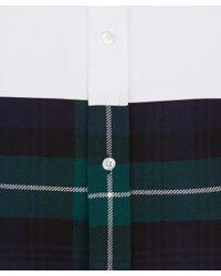 Lou Dalton White Tartan Panel Shirt for men