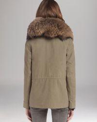 Maje Natural Parka Military Fur Collar