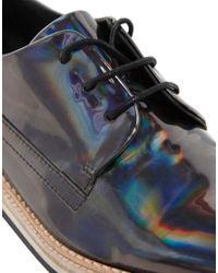 Miista Metallic Allison Flat Lace Up Shoes
