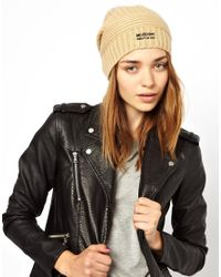 Boutique Moschino Natural Moschino Cheap and Chic Ribbed Beanie