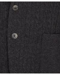 Mr Rick Tailor Black Charcoal Cable Knit Contrast Panel Blazer for men
